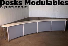location desks modulables
