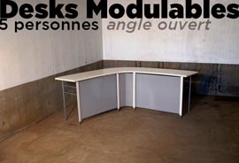 fabrication desk modulable
